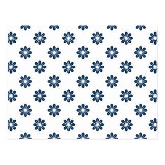 Flor azul 8 del deslumbramiento postal