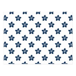 Flor azul 9 del deslumbramiento postal