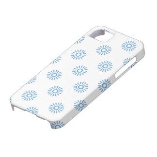 Flor azul apacible 6 iPhone 5 cobertura