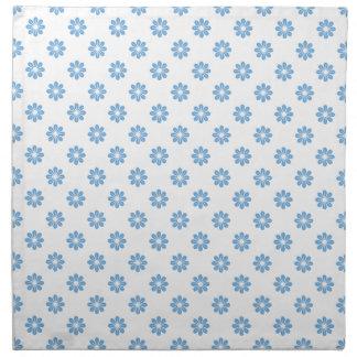 Flor azul apacible 8 servilleta de papel