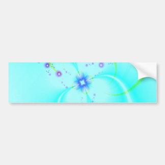 Flor azul bonita pegatina de parachoque