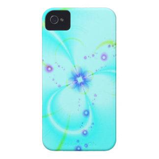 Flor azul bonita iPhone 4 Case-Mate cárcasas