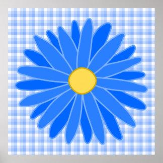 Flor azul brillante impresiones