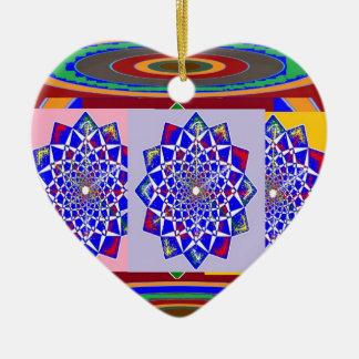 Flor AZUL de la rueda de Chakra del DIAMANTE real Ornatos
