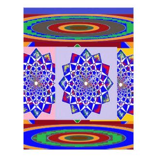 Flor AZUL de la rueda de Chakra del DIAMANTE real Membrete