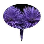 Flor azul del aster figura de tarta