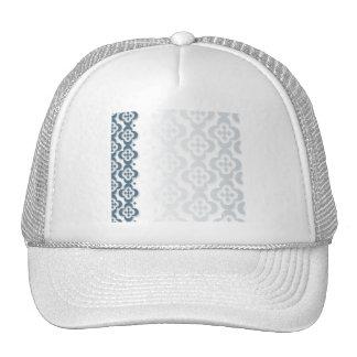 Flor azul del centro del diamante gorras de camionero