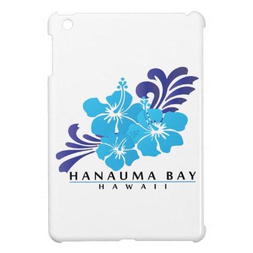 Flor azul del hibisco de Hawaii iPad Mini Funda