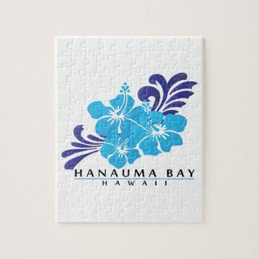 Flor azul del hibisco de Hawaii Puzzle