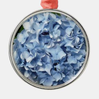 Flor azul del Hydrangea Adorno Navideño Redondo De Metal