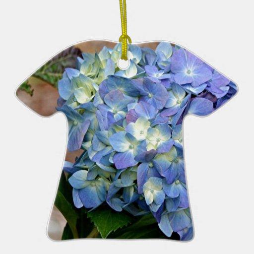 Flor azul del Hydrangea en la floración Ornamentos De Reyes