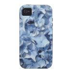 Flor azul del Hydrangea iPhone 4 Fundas