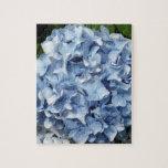 Flor azul del Hydrangea Puzzle Con Fotos