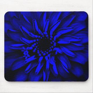 Flor azul del resplandor tapete de ratón