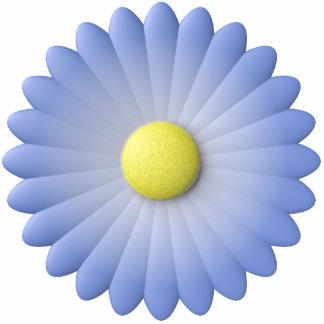 flor azul esculturas fotográficas