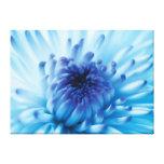 Flor azul impresión en lona