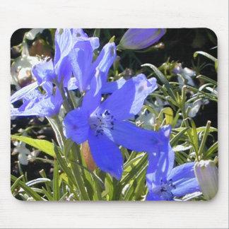 Flor azul Mousepad del resplandor Alfombrillas De Ratón