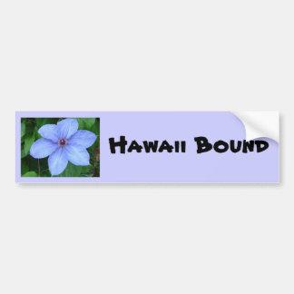 Flor azul, pegatina para el parachoques encuaderna etiqueta de parachoque