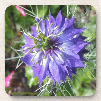 Flor azul posavasos