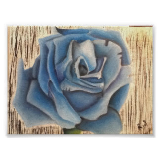 Flor azul póster