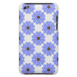 Flor azul retra barely there iPod protector