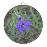 flor azul tabla dardos