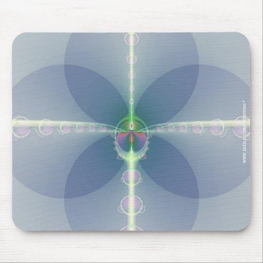 Flor azul tapete de raton