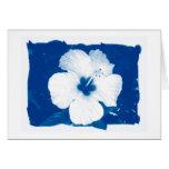 Flor azul tarjeton