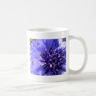 Flor azul taza clásica
