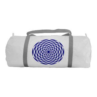 Flor azul y blanca bolsa de deporte