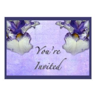 Flor azul y blanca del iris barbudo anuncios personalizados