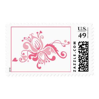 Flor barroca en rosa sello
