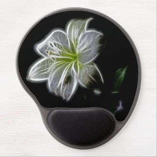 Flor blanca alfombrillas de raton con gel