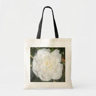 Flor blanca bolsa tela barata
