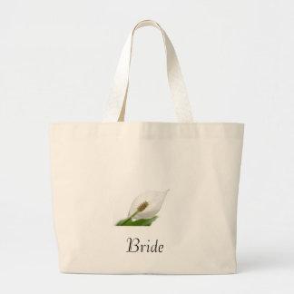 flor blanca bolsa