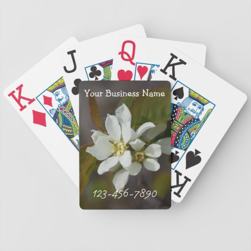 Flor blanca con la hormiga; Promocional Baraja Cartas De Poker