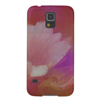 Flor blanca con texturas rosadas carcasa para galaxy s5