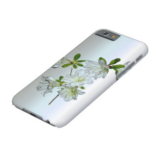 Flor blanca de la azalea en la plena floración funda de iPhone 6 barely there