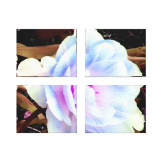 flor blanca de la lila impresion de lienzo