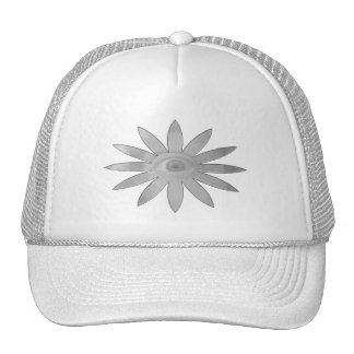 Flor blanca del ojo gorras de camionero