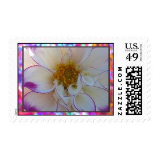 Flor blanca estampillas
