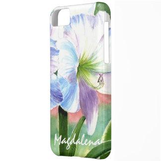 Flor blanca gigante con puntos culminantes funda para iPhone 5C