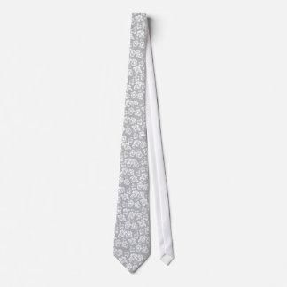 Flor blanca hawaiana corbata personalizada
