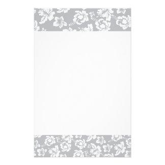 Flor blanca hawaiana personalized stationery