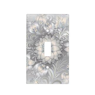 Flor blanca hermosa retra del boda de Boho Cubiertas Para Interruptor