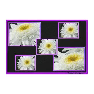 Flor blanca impresión en lienzo estirada