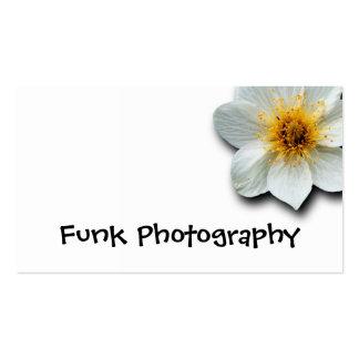 Flor blanca minúscula tarjetas de visita