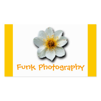 Flor blanca minúscula tarjetas de negocios