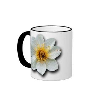 Flor blanca minúscula tazas