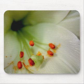 Flor blanca Mousemat de Lilly Tapetes De Ratones